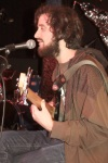 Motive bassist Andrew McGovern at the band's acoustic set Dominion 5/15/12