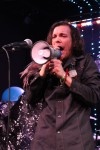 Alex Chappo using a megaphone during the bands Moonwater album release 5/15/12 at Dominion