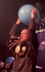 Alex of Chappo with a balloon at the band's Moonwater album release 5/15/12 at Dominion
